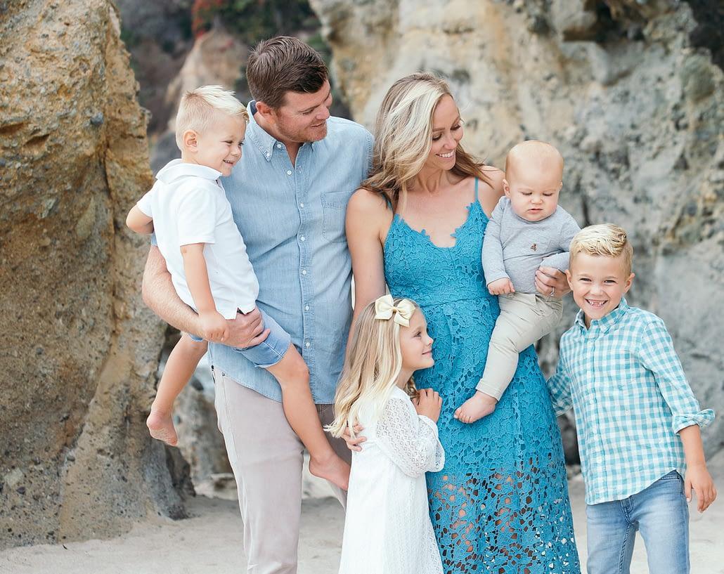 beautiful family portraits newport-beach california karen french