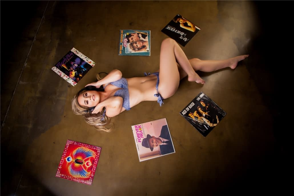 Fun record props for your boudoir photoshoot